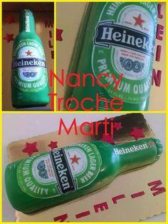 2D Heineken beer cake