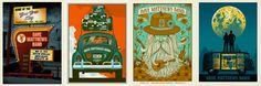 Designer and gigposter aficionado John Foster has been in the biz more than 20 years, and divulges his 10 tips for designing your best music, band posters. He provides many examples of excellent gigposters over the years, including these gems by Methane Studios for Dave Matthews Band.