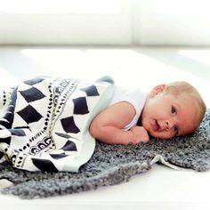 Babydeken zwart wit