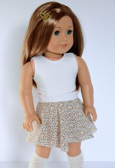 American Girl Doll 18 Inch Clothes Trendy Ivory by Closet4Chloe