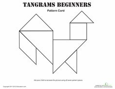 Easy Tangrams Puzzle #2 | Puzzles, Tangram Printable and Worksheets