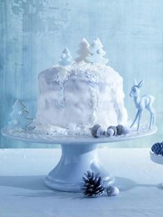 Eisig schön Winterdeko für Weihnachten selber machen