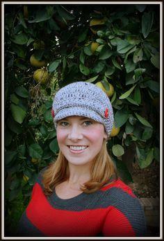 FREE Crochet Pattern: The Amanda Newsboy Cap