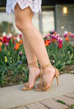 Spring Style: For Love & Lemons Skirt, Steve Madden Sandals, Clare V. Crossbody, Kendra Scott Earrings
