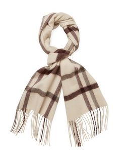 5b87b6de652 SAKS FIFTH AVENUE MEN S PLAID CASHMERE SCARF - LIGHT PASTEL BROWN.   saksfifthavenue