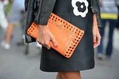 Prada clutch and dress #mfw