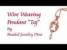 "(5) Wire Weaving Pendant ""Taj"" - Wire Weaving With Beads - YouTube"