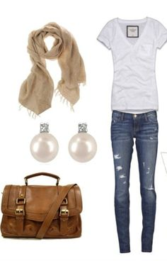 Could replace jeans with olive pants.. And black boots..