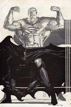 Batman / Superman by Bill Sienkiewicz