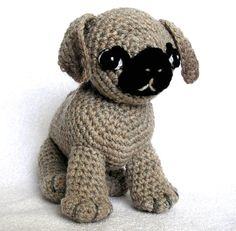 MOM via Tammy - A PUG Named Ted PDF Crochet Pattern by bvoe668 on Etsy, $5.00