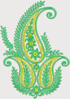 Green Paisley ontwerper Patch