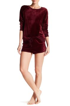 910086179a Image of Free Press Velour Track Shorts Fashion Women