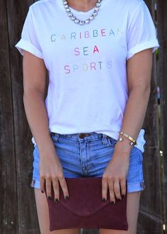Caribbean Sea Sports graphic tee by Rxmance for Madewell