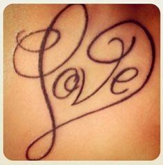 Tattoo: love made as a heart : super cute tattoo idea: