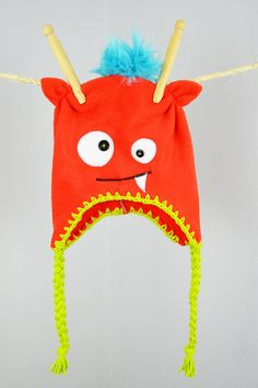 Baby/Toddler  Monster Fleece Hat by iHEARTees on Etsy, $18.00