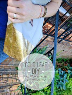 Gold Leaf on Leather Handbag DIY | Beautiful Hello Blog
