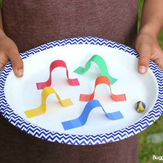 STEM Challenge for Kids: Design a Paper Plate Marble Maze - Buggy and Buddy Stem For Kids, Diy For Kids, Crafts For Kids, Craft Kids, Motor Activities, Preschool Activities, Marble Maze, Stem Challenges, Fine Motor