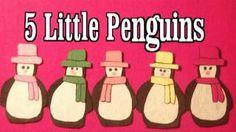 Winter Preschool Songs - 5 Little Penguins song - Littlestorybug, via YouTube.