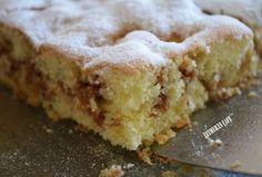 ELMALI KEK Turkish Cuisine, Chiffon Cake, Apple Cake, Pasta Cake, Pudding Cake, Party Desserts, Cake Toppings, Cake Recipes, Snack Recipes