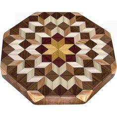 Small Carpenters Wheel Lazy Susan by woodmosaics on Etsy