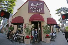 (Senna's store front is the teal one on the left) Brighton Coffee Shop - Beverly Hills (California USA) by Meteorry, via Flickr