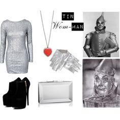 Tin Woman costume!  DIY costumes #Fashion #Style #Costume #Halloween #DIY wizard of oz costume