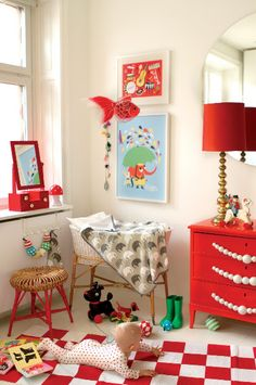 Happy nursery...love the red! https://www.cocooncouture.com/shopping/pgm-more_information.php?id=270&=SID