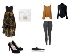 """Modern Hufflepuff"" by midnightsdream ❤ liked on Polyvore featuring WearAll, Topshop, Forever 21 and modern"