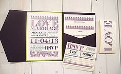 Love And Marriage Wedding Stationery - wedding stationery