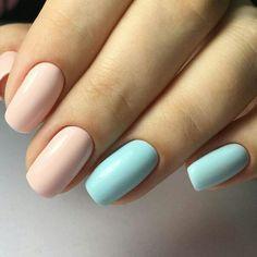 #nail #нежный #маникюр #нежный_маникюр #голубой #бежевый #blue #lightblue