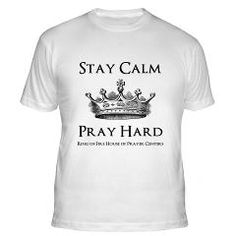 Stay Calm Pray Hard Fitted T-Shirt> Stay Calm Pray Hard> Fire of Love Christian T-shirts