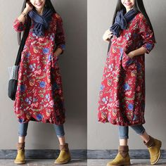 >> Beautiful Floral cotton gown
