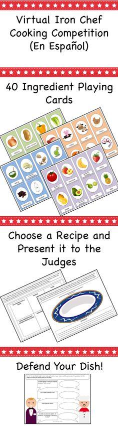 Spanish food / recipe challenge for Spanish class