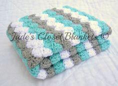 Bambino coperta all'uncinetto coperta del di JadesClosetBlankets