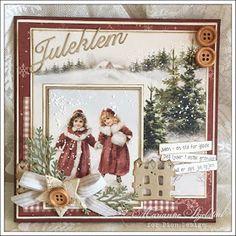 Desember er godt i gang, og julekortene skal snart avgårde. Her er et julekort jeg har laget med Pions vakre julekolleksjon The Day before...