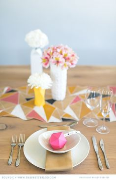 Yellow & pink table décor | Photo: Wesley Vorster, Styling: Leipzig & Landtscap
