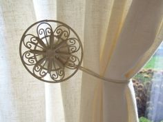 Magnetic Curtain Holdback DIY
