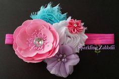 Pink headband,Lilac headband,baby girl headband,first birthday headband,Newborn head band,White hairband,Lavender bows,Toddler girl headband