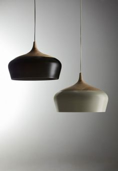 Ceramic and wood light fittings