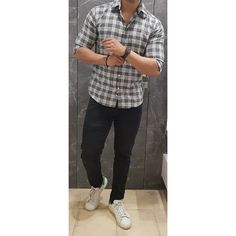 Our kind of Wednesday. Pairing a black and white check shirt with black jeans and white sneakers to keep it simple and sweet. What do you…