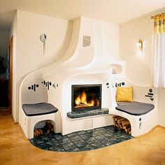 Different flooring under/near fire? Mud House, Kiosk Design, Rocket Stoves, Earth Homes, Natural Building, Interior Decorating, Interior Design, Fireplace Design, Building A House