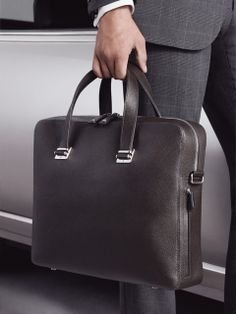 Pair the Bourdon Single Zip Briefcase with a sharp suit for a modern take on business formal.