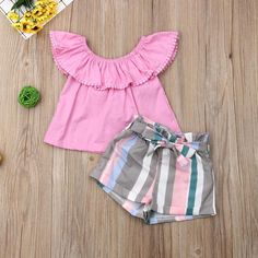 US Toddler Kid Baby Girl Summer Clothes T-shirt TopsShorts Pants Outfits Newborn Girl Outfits, Baby Outfits, Toddler Outfits, Kids Outfits, Girls Summer Outfits, Dresses Kids Girl, Summer Clothes, Baby Girl Dress Patterns, Frocks For Girls