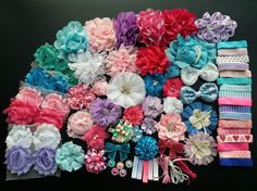 DIY Hair Bow KitBaby Shower Headband Station by Niceboutique
