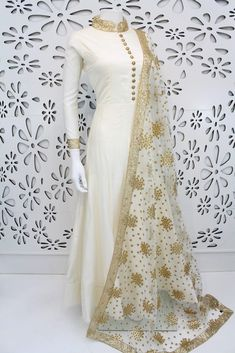 PalkhiFashion Exclusive Lemon Yellow Full Flair Silk Outfit With Handwork & Beautiful Duppata. Designer Party Wear Dresses, Kurti Designs Party Wear, Indian Designer Outfits, Indian Outfits, Indian Attire, Indian Gowns Dresses, Pakistani Dresses, Stylish Dresses, Fashion Dresses