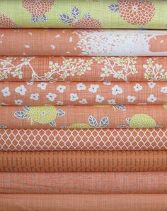 Kate and Birdie Paper Co., Autumn Woods, Persimmon in FAT QUARTERS 9 Total
