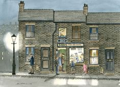 Theartbay Gallery prints using a top of the range professional fine art Epson 9880 printer. Building Art, Brick Building, Manchester Art, Nostalgic Art, Watercolor Pictures, Naive Art, Art For Art Sake, Moon Art, Pottery Painting