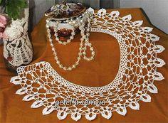 knitting for beginners course Crochet Lace Collar, Crochet Shawl, Crochet Doilies, Crochet Borders, Knitting For Beginners, Neck Collar, Crochet Accessories, Irish Crochet, Crochet Clothes