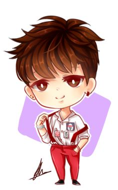 BTS Jimin chibi by xaevlyn on DeviantArt
