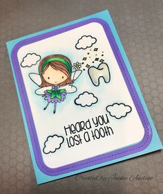 MFT stamp set - Fairy Happy . I made  this card for my grandson who lost his front tooth